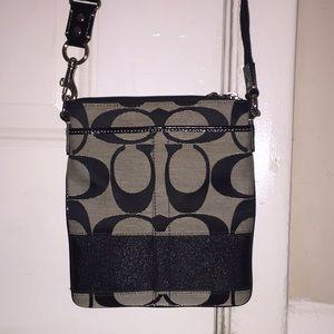 Coach crossbody purse, signature Coach w/ big Cs